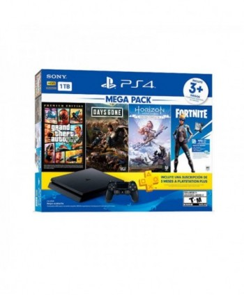 Consola PS4 Slim 1TB Mega...